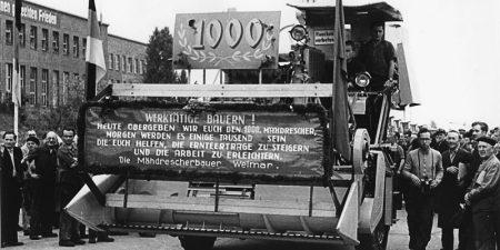 Mähdrescherproduktion in Weimar