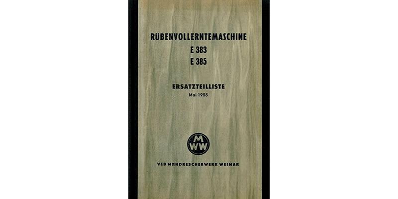 E383/E385-Rübenvollerntemaschine-Ersatzteilliste