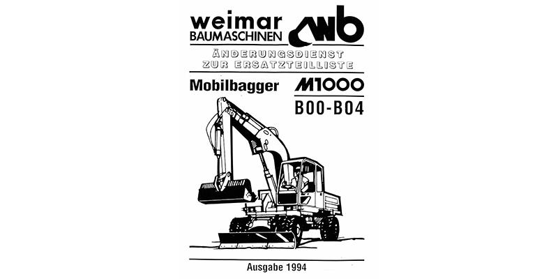 M1000B - Änderungsdienst Ersatzteilliste