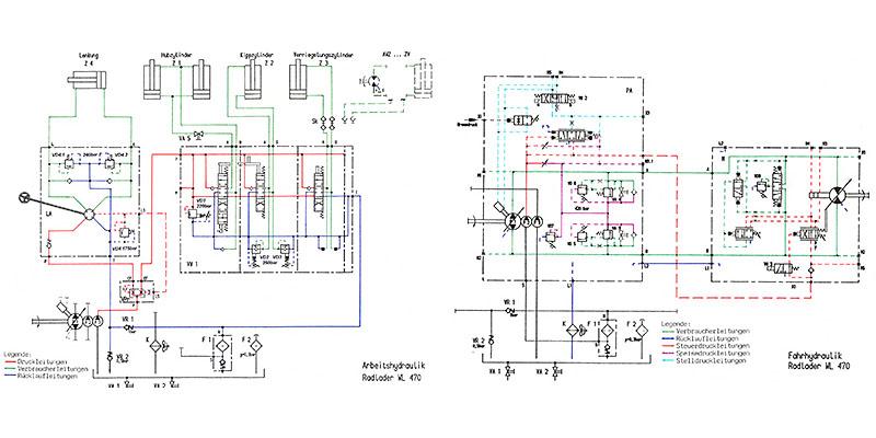 WL470-WL520-WL580-Hydraulikschaltpläne