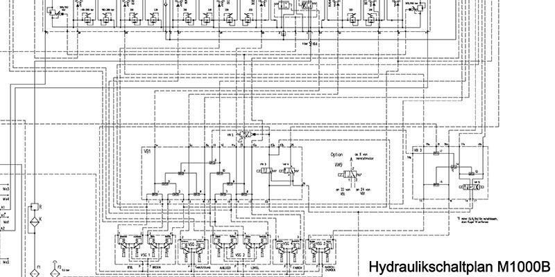 Hydraulikschaltplan M1000B – Weimar Werk