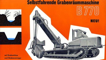 Selbstfahrende Grabenräummaschine B770