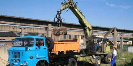Hydraulischer Lader T188 noch heute täglich im Einsatz