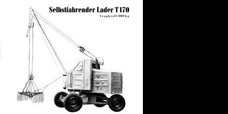 Selbstfahrender Lader T170 - 2 Seitenprospekt