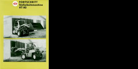 Stallarbeitsmaschine HT 140 - 2 Seitenprospekt