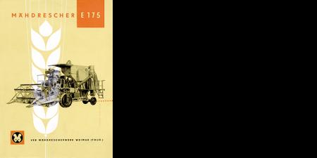 Mähdrescher E175 - 4 Seitenprospekt