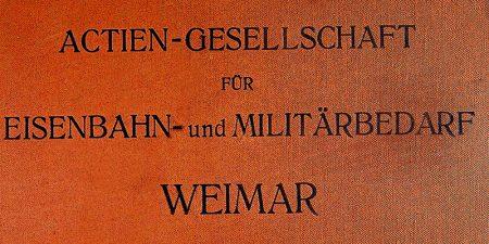 Erzeugnisse der Aktiengesellschaft für Eisenbahn- und Militärbedarf