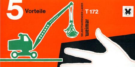 Selbstfahrender Lader T172 - 4 Seiten - Prospekt - 5 Vorteile