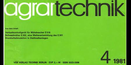 1981 - agrartechnik Heft 4