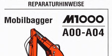 Reparaturhinweise für den M1000A
