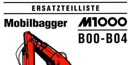 Ersatzteilliste M1000B
