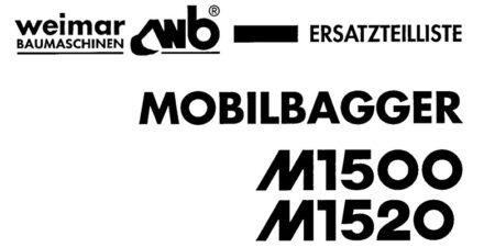 Ersatzteilliste M1500 / M1520