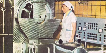 1977 - Produktionslinien zur kontinuierlichen Herstellung von Sauerrahm- und Süßrahmbutter