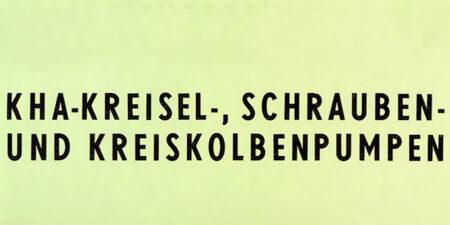 1979 - KHA - Kreisel-, Schrauben- und Kreiskolbenpumpen