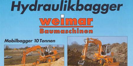 Prospekt 1993 Hydraulikbagger <br>weimar - Baumaschinen