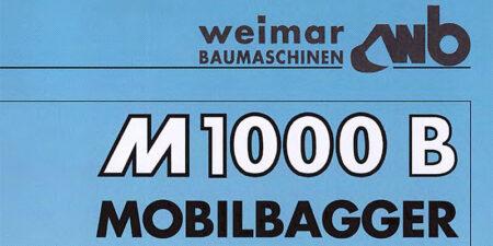 Prospekt 1995 - weimar BAUMASCHINEN </br>Mobilbagger M1000B