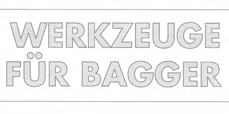 Prospekt 1995 - weimar BAUMASCHINEN </br>Werkzeuge für Bagger