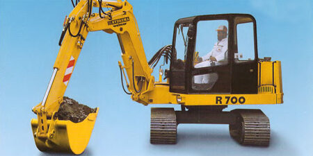 Prospekt 1997 - HYDREMA </br>Raupenbagger R700