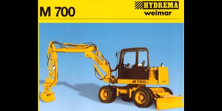 Prospekt 1997 - HYDREMA <br>Mobilbagger M700