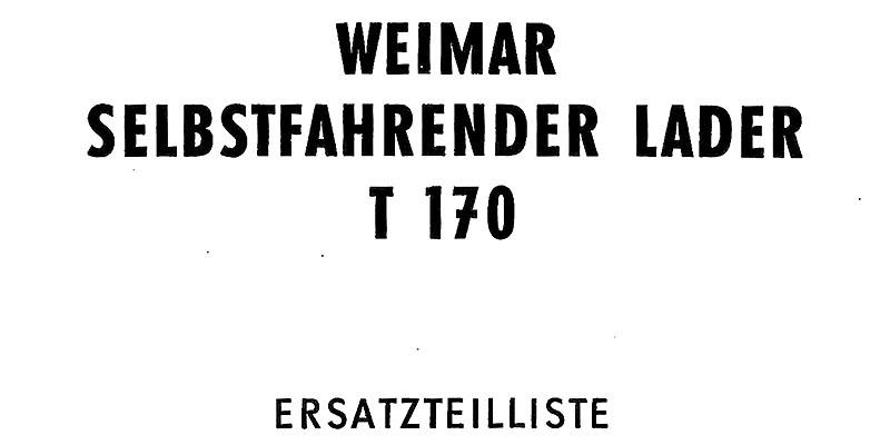 T170 Ersatzteilliste
