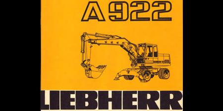 1995 - Liebherr A922 - Betriebsanweisung