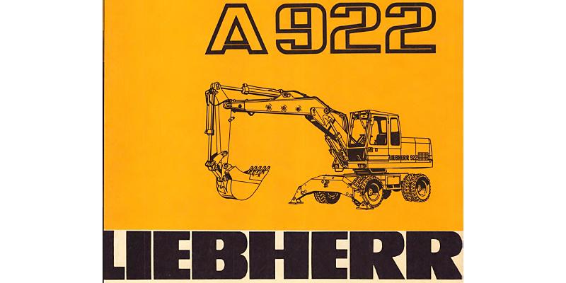Liebherr A922-Betriebsanweisung