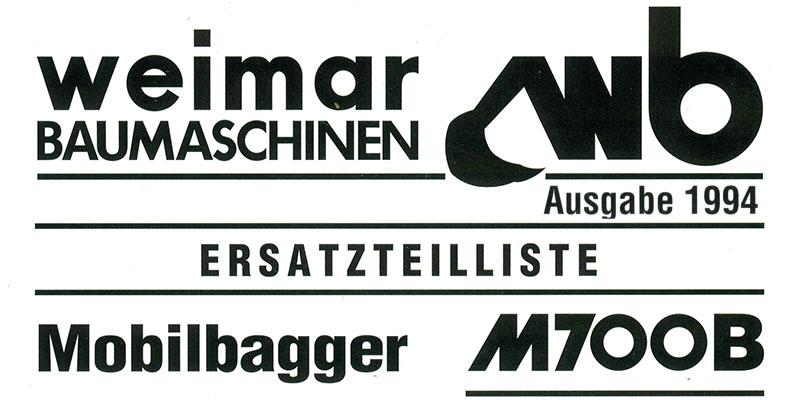 M700B-Ersatzteilliste