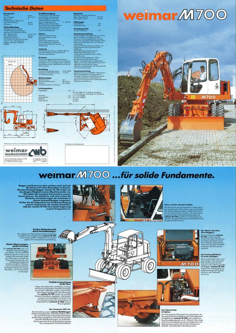 M700A - 2 Doppel - Seitenprospekt