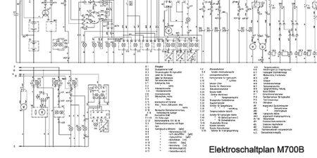 Elektroschaltplan M700B
