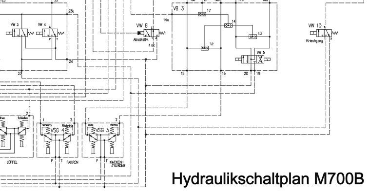 Hydraulikschaltplan M700B