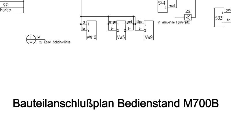 Bauteilanschlussplan Bedienstand M700B