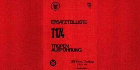 Ersatzteilliste T174 - Tropenausführung