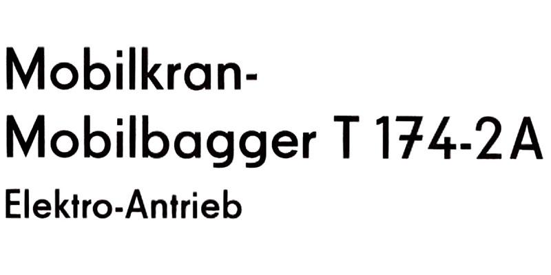T174-2A Elektro-Antrieb