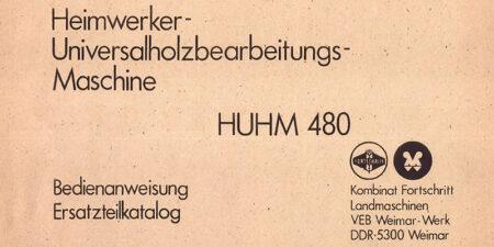 HUHM480 - Bedienungsanweisung und Ersatzteilkatalog