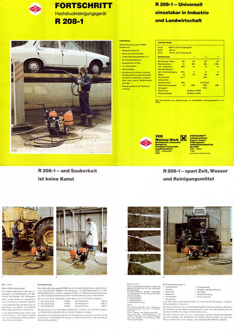 R208-1 Hochdruckreinigungsgerät