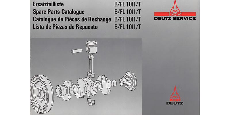 1989 - M700 - Ersatzteilliste - Deutz - Motor B-FL 1011-T