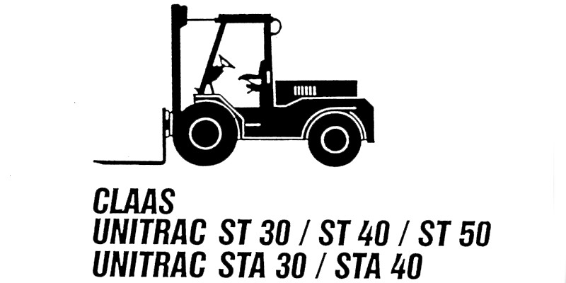 ST30-ST40-ST50-CLAAS UNITRAC-Bedienungsanleitung