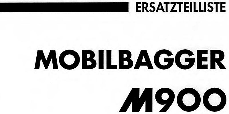 M900-Ersatzteilliste