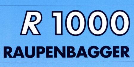 Prospekt 1995 - weimar BAUMASCHINEN </br>Raupenbagger R1000