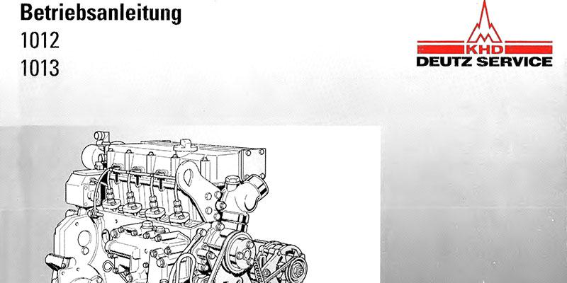 M900 / M1500-Betriebsanleitung Deutz Motor BF M 1012 / 1013