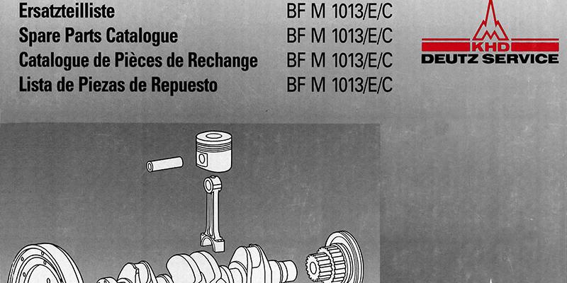 M1500 - Ersatzteilliste Deutz Motor BF M 1013