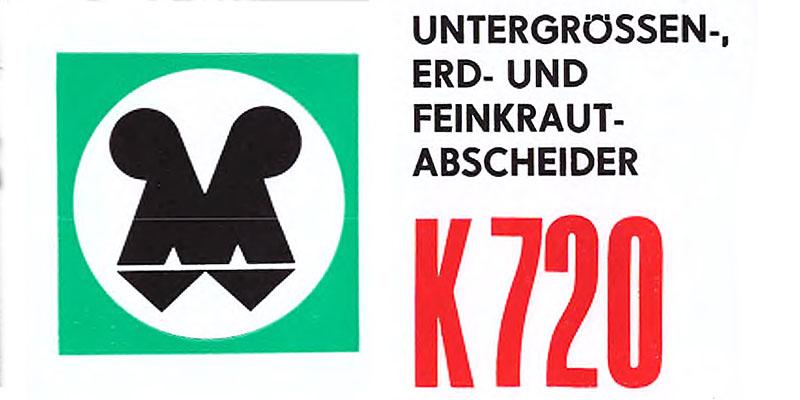 K720-Untergrössen-Erd und Feinkrautabscheider