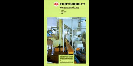 1988 - Kartoffelschällinie - 4 Seitenprospekt
