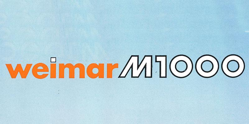 Prospekt 1993 - weimar BAUMASCHINEN - M1000