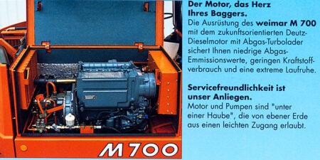 Prospekt 1993 - weimar BAUMASCHINEN </br>Kompaktbagger M700