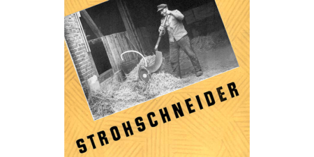 2 Seitenprospekt - Strohschneider aus dem Jahr 1954
