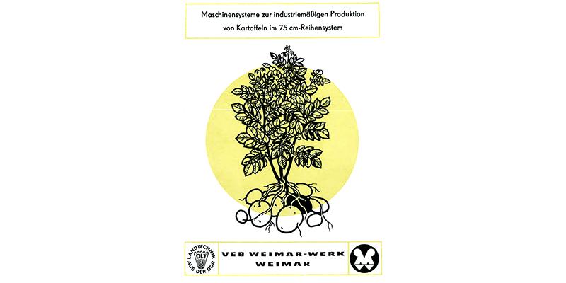 Maschinensysteme zur industriellen Produktion von Kartoffeln in 75 cm - Reihen