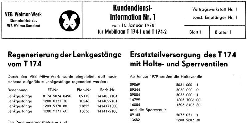 Kundendienstmitteilung T1741+2-Regenerierung Lenkgestänge+ET-Versorgung