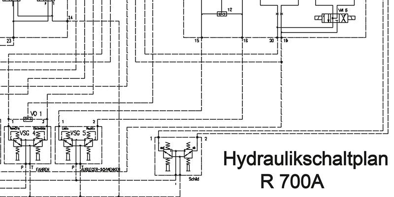 R700 Hydraulikschaltplan