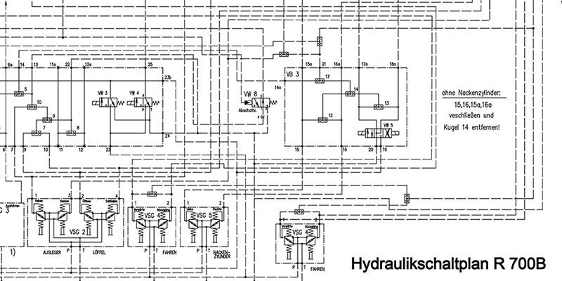 R700B Hydraulikschaltplan